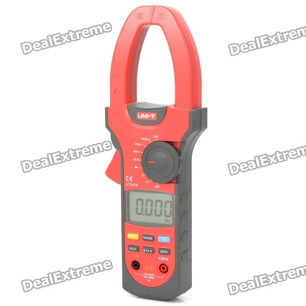 UNI-T UT207A 2.0 LCD Digital Clamp Multimeter - Red (1 x 9V) fluke f302 1 6 lcd ac clamp meter yellow red 3 x aaa