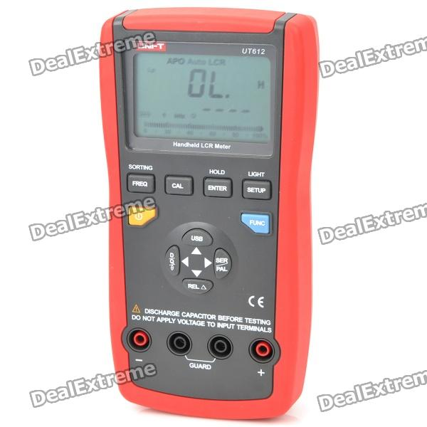 "UNI-T UT612 2.8 ""LCD portátil Digital LCR Meter - Red + Grey (1 x 9V)"