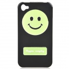 Smiling Face Pattern Protective Plastic Case for iPhone 4 / 4S