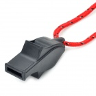 Mini Portable Dolphin Whistle with Strap - Black