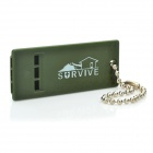 Mini Tri-band Whistle - Army Green