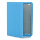 Protective PU Leather Smart Cover for New iPad - Blue