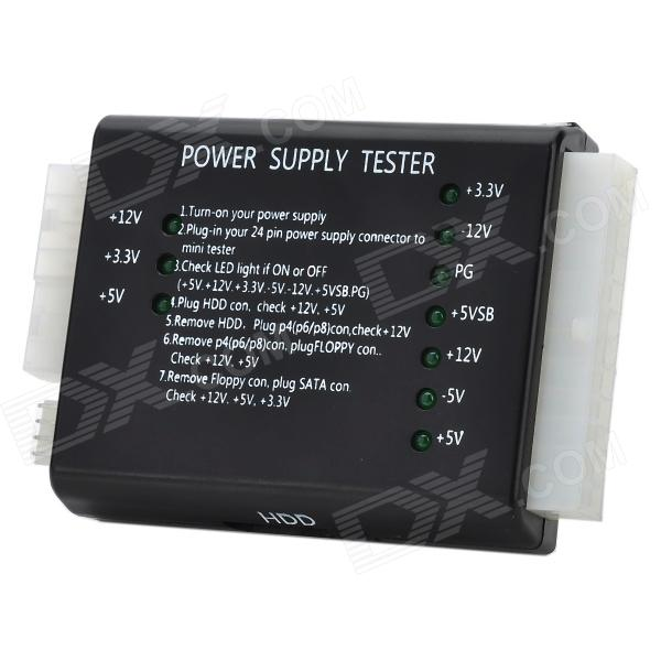 PC Computer ATX Power Supply Tester with On/Off Switch - Black ...