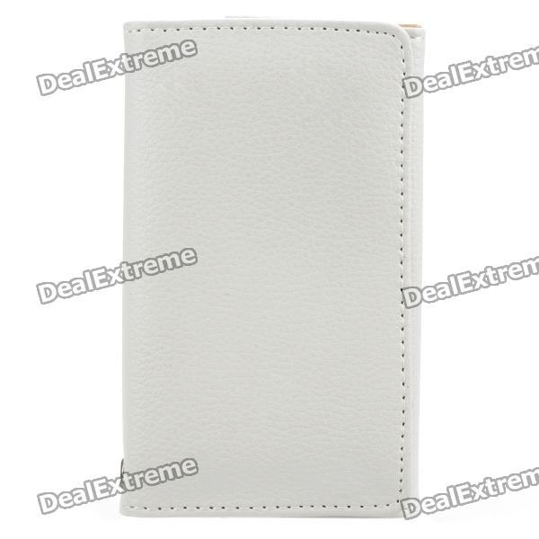 Protective Wallet Style Leather Case Bag for Iphone 3gs / 4G / 4S - White protective pu leather case pouch bag for iphone 3g 3gs 4 red