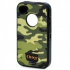Stylish Three-Layer Protective Case for iPhone 4 / 4S - Camouflage + Black