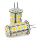 G4 2.4W 18-SMD 5050 216lm 2800K LED Car Warm White Light Bulb Pair(DC 8-30V)