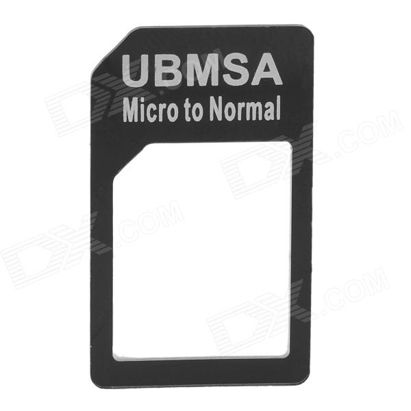 Micro SIM Card to Standard SIM Card Adapter - Black