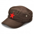 Cool Red Star Pattern Cotton Cap Hat - Coffee