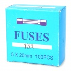 15A Tube Fuse for Car Audio (100-Piece Pack)