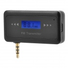"Full Range 0.7"" LCD FM Transmitter + Car Charger for Smartphone / MP3 / MP4 w/ 3.5mm jack"