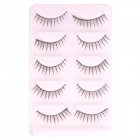 Black False Eyelashes for Beauty Makeup (5-Pair)