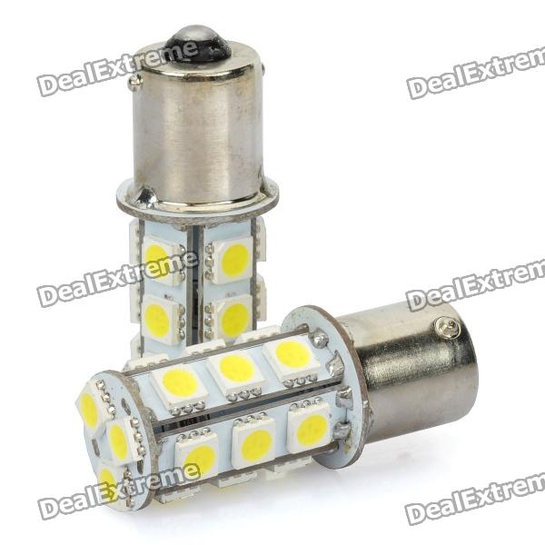 1156 BA15S 5050 18-SMD 2.4W White Car LED Bulb Light (DC 14V/Pair)