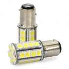 1157 BAY15D 5050 30-SMD 4W 6500K 360LM LED Car Light Bulbs (DC 14V/Pair)
