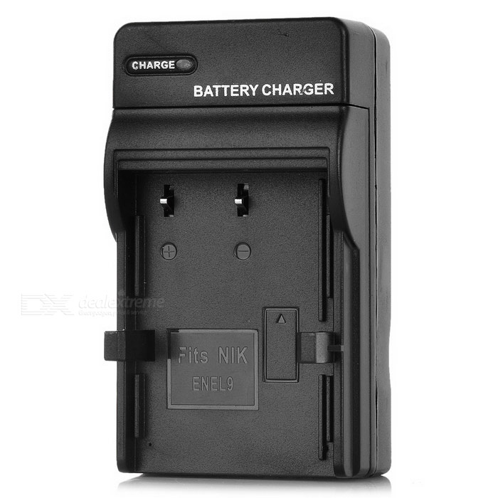 Compact Battery Charger for Nikon EN-EL9 - Black