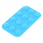 Mini Double-Sided Suction Cup Silicone Pad for Cell Phone - Blue