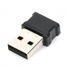 Mini 100mW USB 2.0 150Mbps 802.11b/g/n 2,4 GHz Wifi / WLAN Wireless Network Adapter - Schwarz
