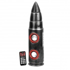 Novelty Bullet Style MP3 Player Speaker w/ SD / USB / Mini USB - Black