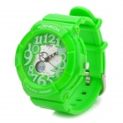 Waterproof Dual Time Display Wrist Watch w/ Data / Week / Stopwatch / Alarm - Green (1 x CR2016)