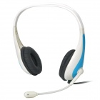 Suonaya S-T55 Headset with Microphone - Blue + White (3.5mm Jack / 150cm)