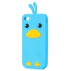 Cute Chicken Style Soft Silicone Case for iPhone 4 / 4S - Blue