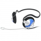 SUOYANA S-068MV Back-Hang Headset Headphone w/ Microphone - Blue (3.5mm-Plug / 220cm-Cable)