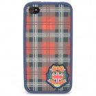 Great Britain Pattern PC Plastic Case for iPhone 4/4S - Red + White + Black