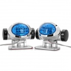 1.4W 8-LED Blue Light Lamps for Car - Pair (12V)