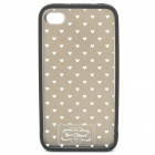 Protective Detachable PC Case for iPhone 4 / 4S - Deep Grey