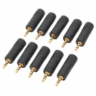 3.5mm Stereo Male to 6.35 Female Audio Converters Adapters (10-Pack)