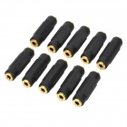 3.5mm TRS Female to Female Connectors (10-Pack)