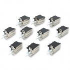 DIY AC 250V Clicky Switch - White + Black (10-Piece Pack)
