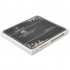 Ultra-Thin USB 2.0 Micro SD / TF / SD / M2 / MS Card Reader - White + Black (Max. 32GB)