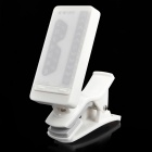 Digital Clip-On Chromatic Tuner w/ LED Indicator - White (1 x CR2032)