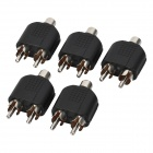 RCA Female to Dual Male Splitters (5-Pack)