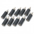 RCA Male to 3.5mm Female Audio Converters Adapters (10-Pack)