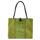 Chinese Style Vintage Embroidered Silk Handbag - Green