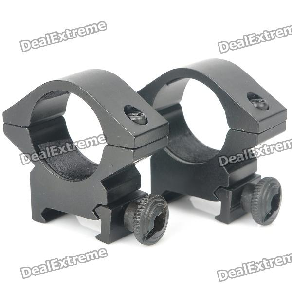 25mm Aluminum Alloy Gun Rail Mount - Black (Pair)Gun Mounts/Rails<br>- Color: Black- Material: Aluminum alloy- Suitable for 25mm gun laser sight or flashlight- Easy installation with 1 hex wrench- A pair will be shipped<br>