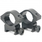 25mm Aluminum Alloy Gun Rail Mount - Black (Pair)