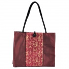 Chinese Style Vintage Embroidered Silk Handbag - Deep Red