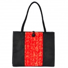 Chinese Style Vintage Embroidered Silk Handbag - Black + Red + Golden