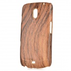 Protective Wood Grain Pattern ABS Back Case for Samsung Galaxy Nexus i9250 - Wood Color