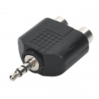 3.5mm Stereo Male to Dual RCA Female Converters - Black (5PCS)