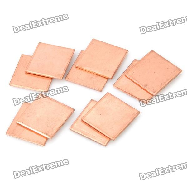 Cooling Heatsink Copper Pad Shims for HP DV2000 / DV3000 / DV9000 - Golden (10-Piece Pack) 5pcs lot pure copper broken groove memory mos radiator fin raspberry pi chip notebook radiator 14 14 4 0mm copper heatsink