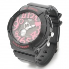 Sports Quartz Digital Shockproof Diving Wrist Watch w/ Backlit/Time/Week/Stopwatch/Alarm - Black