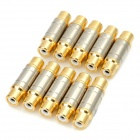 RCA Female to Female Connectors (10-Pack)