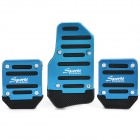 Car Aluminum Alloy Non-slip Pedal Pad Cover - Blue