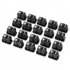 Electrical DIY Power Socket Outlet Set - Black (20-Piece)