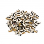 Mini Slide Switch DIY Parts - Silver + Black (100-Piece Pack)