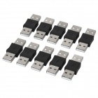 USB Type A Male to Male Connector (10-Pack)