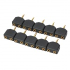 3.5mm Stereo Male to Dual Female Adapters (10-Pack)